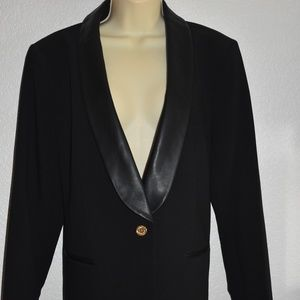 Micheal Kors black one button blazer size 14